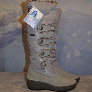 😍PAJAR😍Maureen Faux Fur Waterproof Boot Gray 39